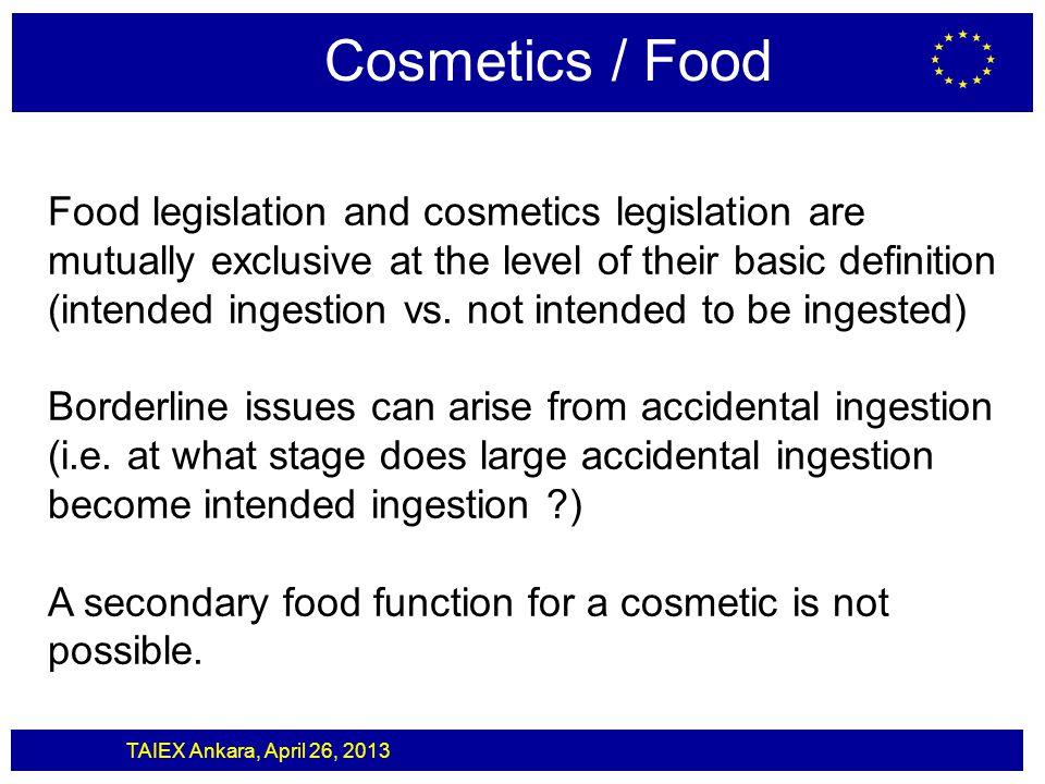 Cosmetics / Food