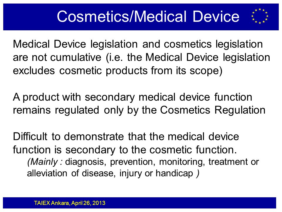 Cosmetics/Medical Device