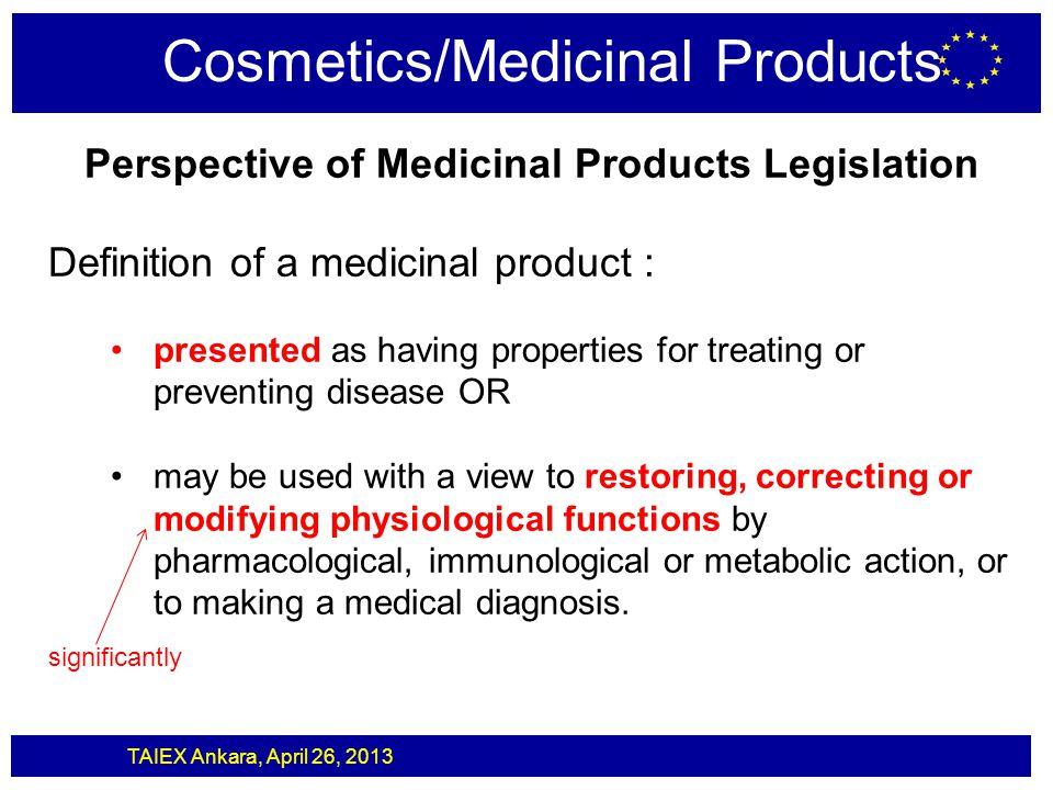 Cosmetics/Medicinal Products