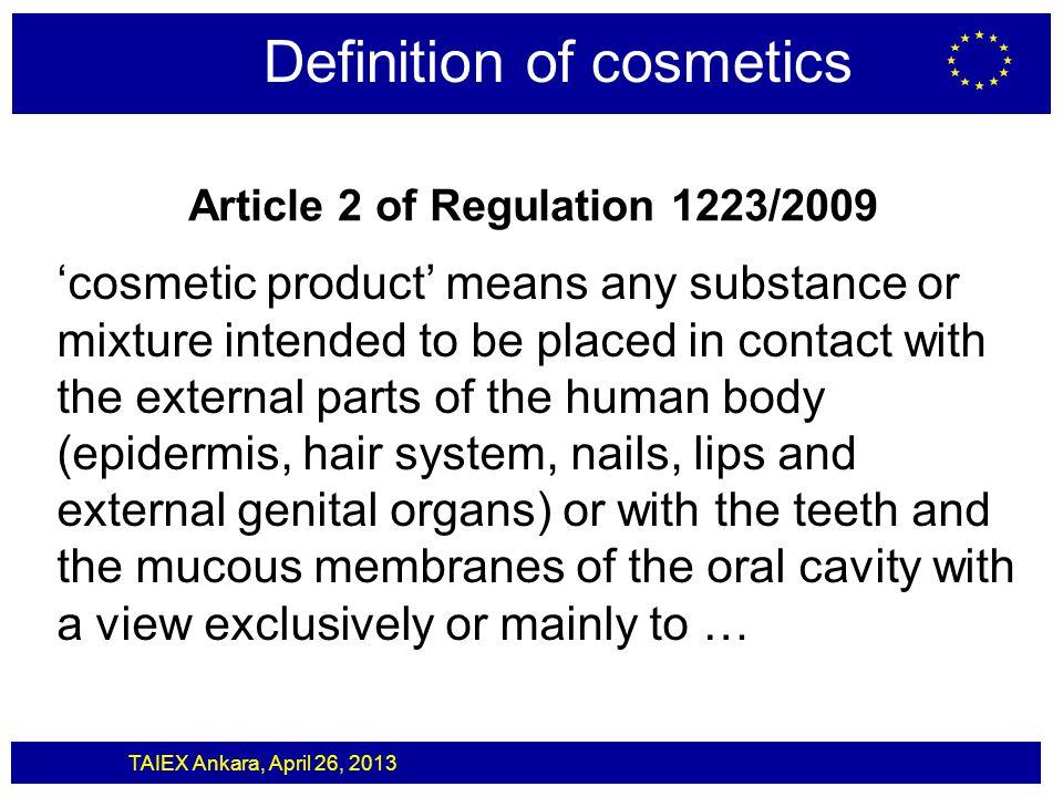 Article 2 of Regulation 1223/2009