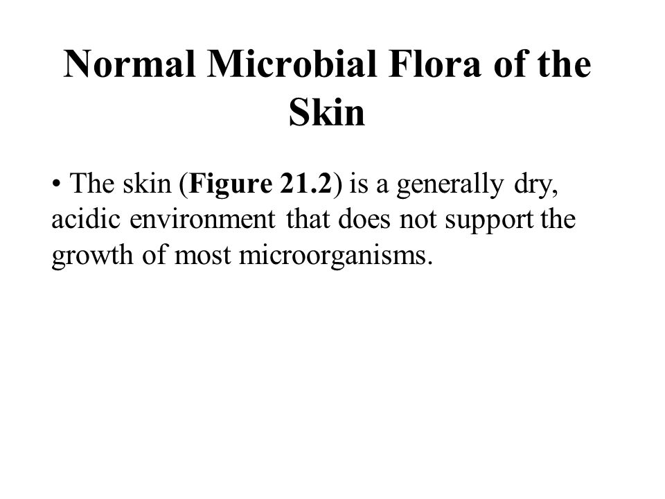 Normal Microbial Flora of the Skin