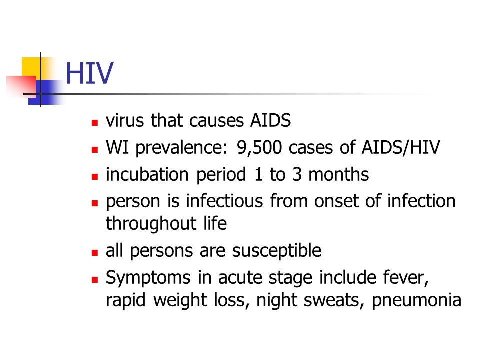 HIV virus that causes AIDS WI prevalence: 9,500 cases of AIDS/HIV
