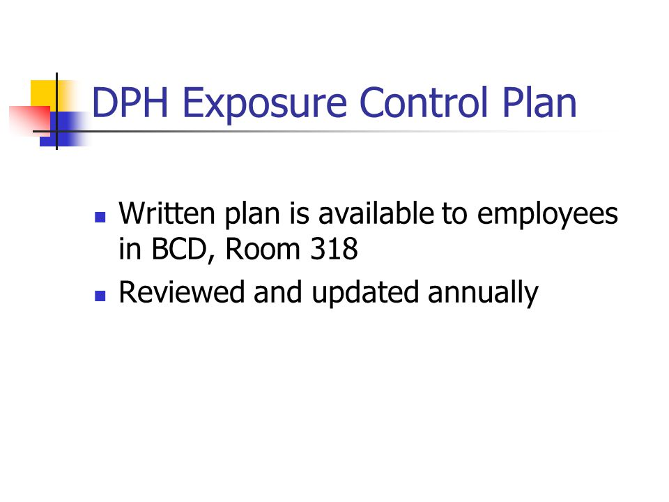 DPH Exposure Control Plan