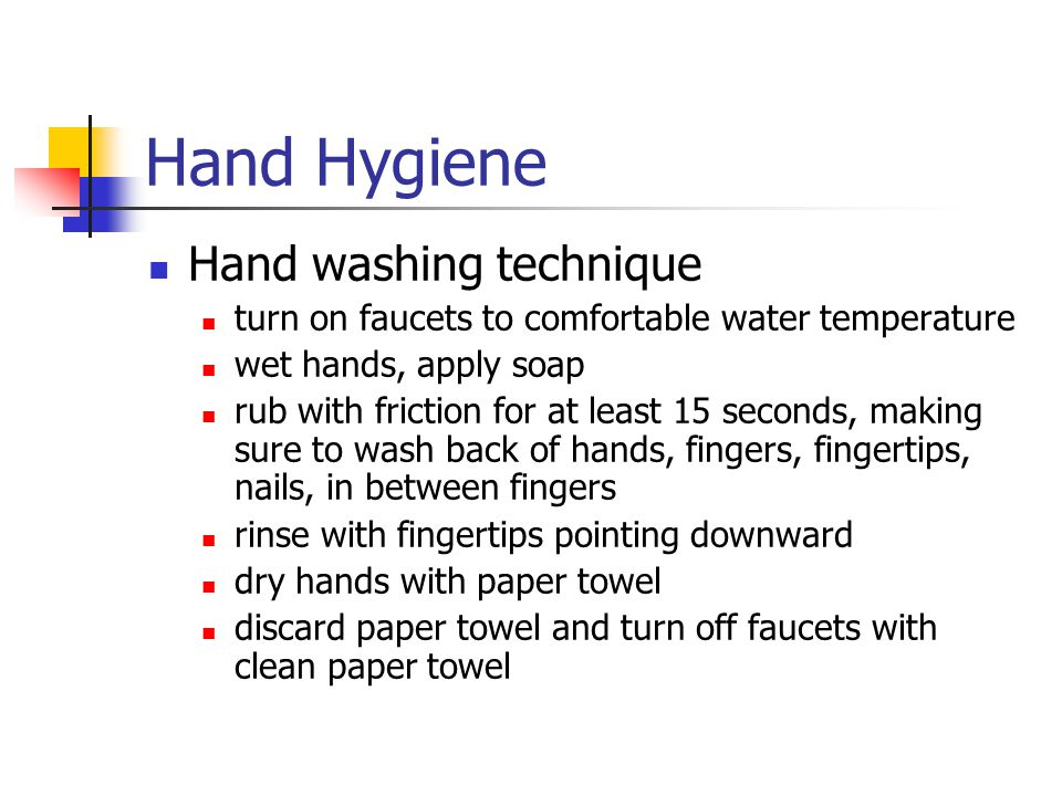 Hand Hygiene Hand washing technique
