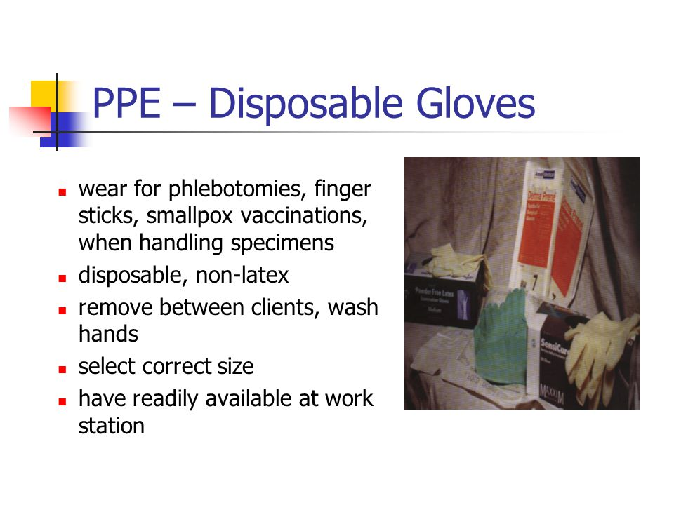 PPE – Disposable Gloves