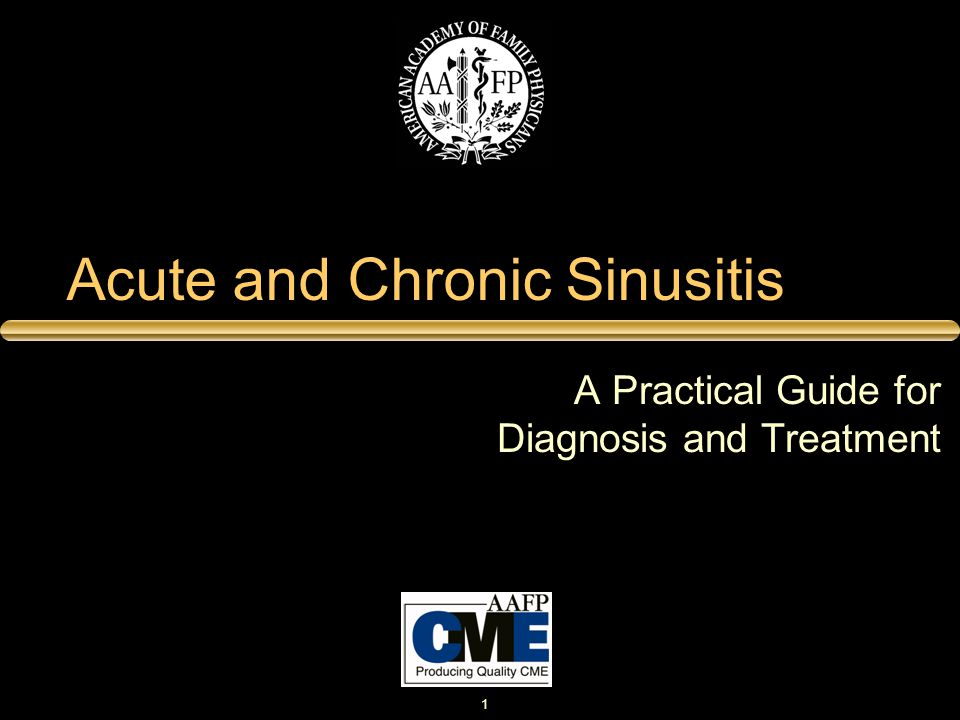 Acute and Chronic Sinusitis