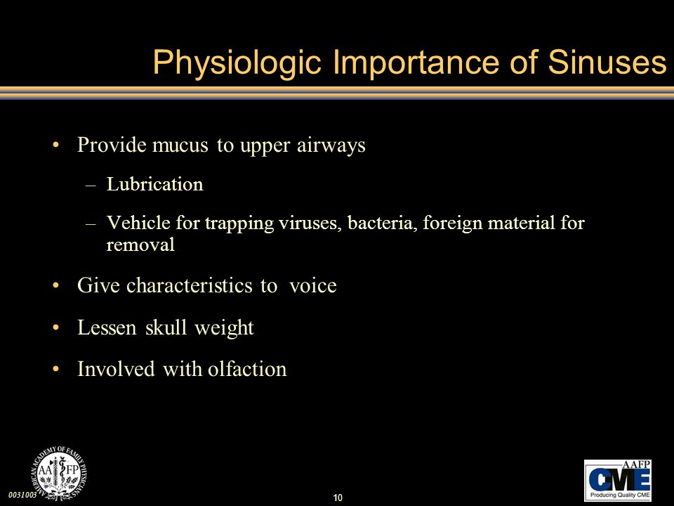 Physiologic Importance of Sinuses