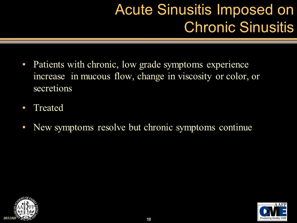 Acute Sinusitis Imposed on Chronic Sinusitis