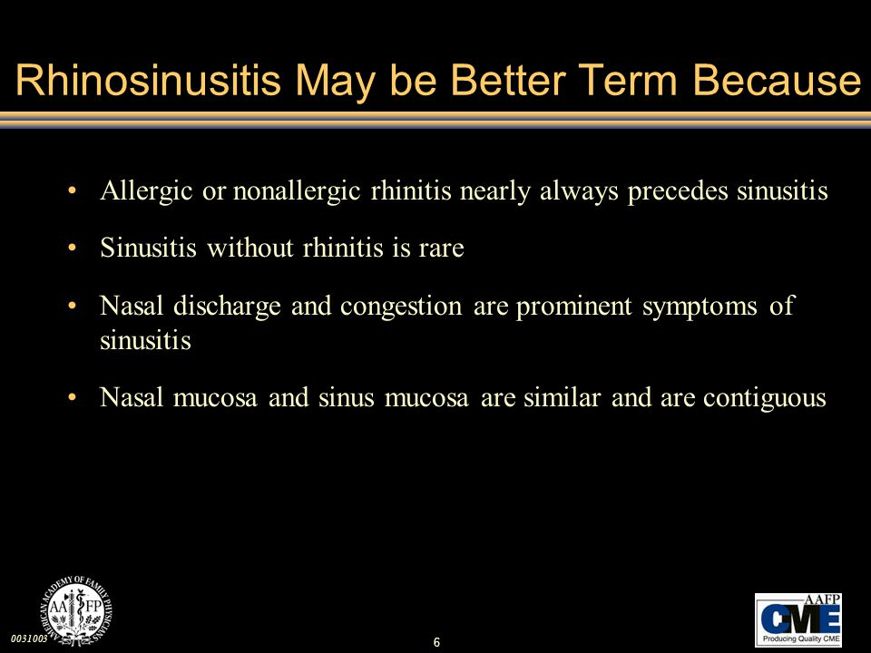 Rhinosinusitis May be Better Term Because