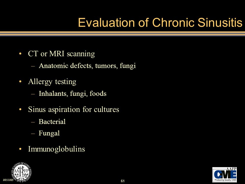 Evaluation of Chronic Sinusitis