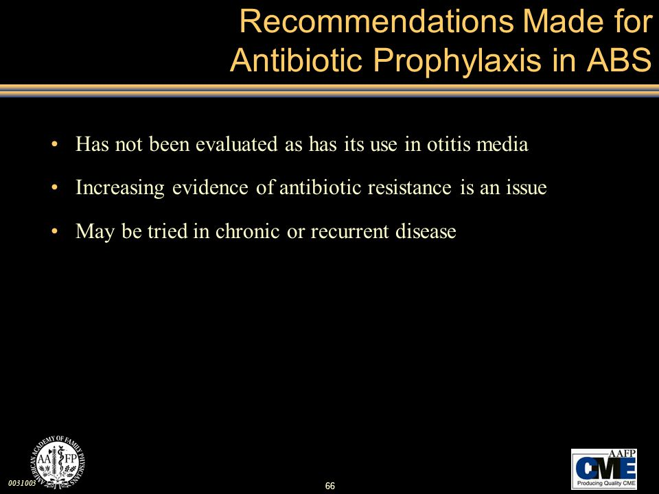 Recommendations Made for Antibiotic Prophylaxis in ABS
