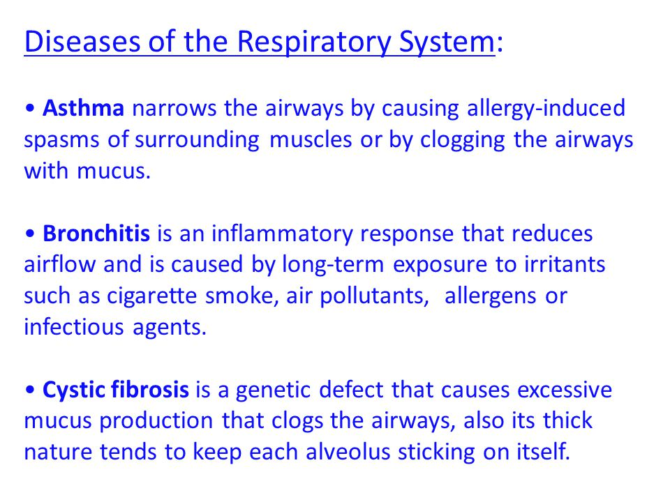 Diseases of the Respiratory System: