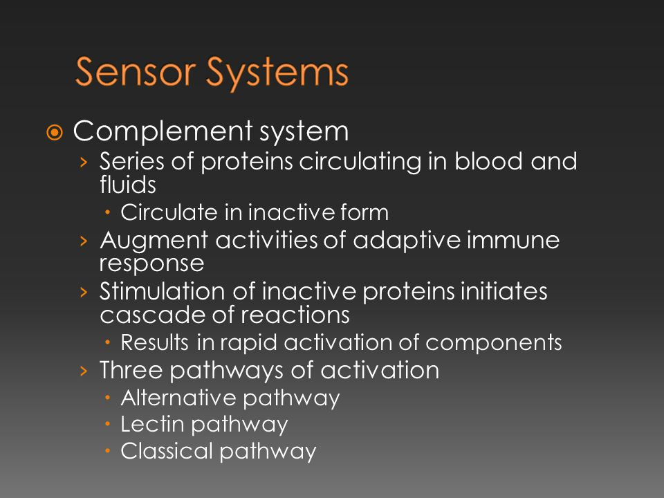 Sensor Systems Complement system