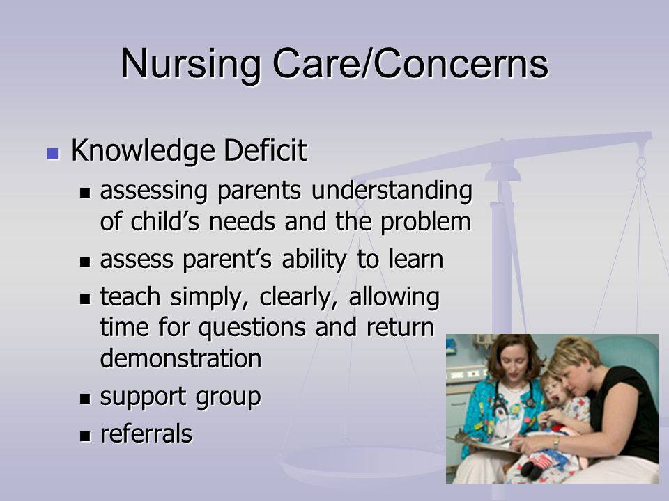 Nursing Care/Concerns