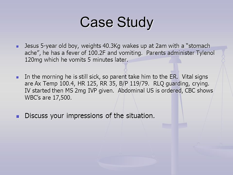 Case Study Discuss your impressions of the situation.