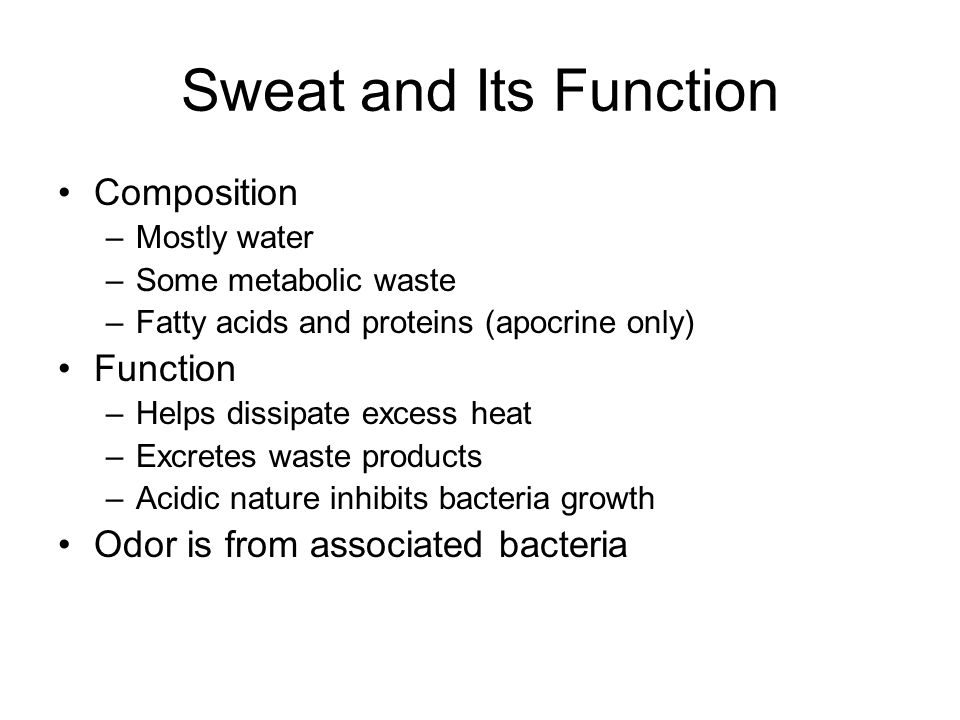 Sweat and Its Function Composition Function