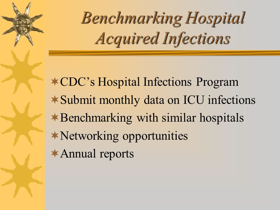 Benchmarking Hospital Acquired Infections