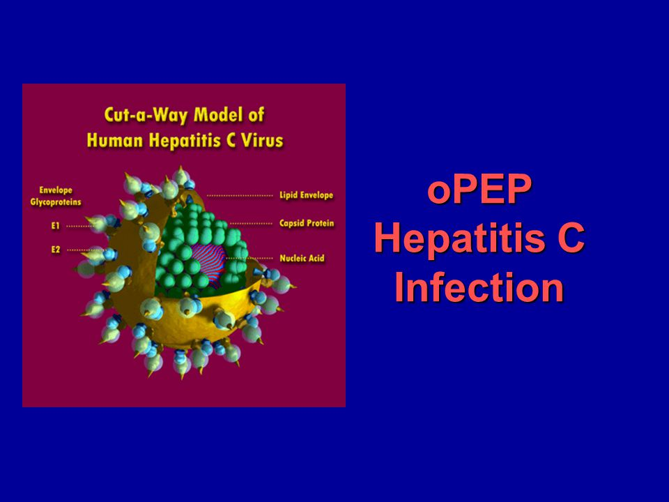 oPEP Hepatitis C Infection