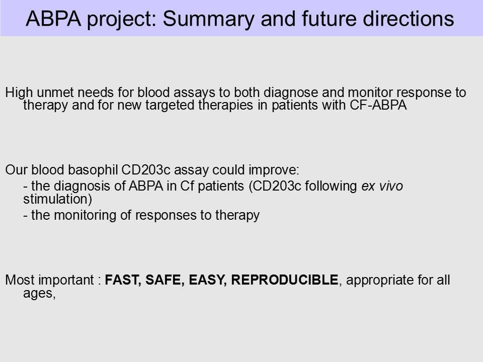 ABPA project: Summary and future directions