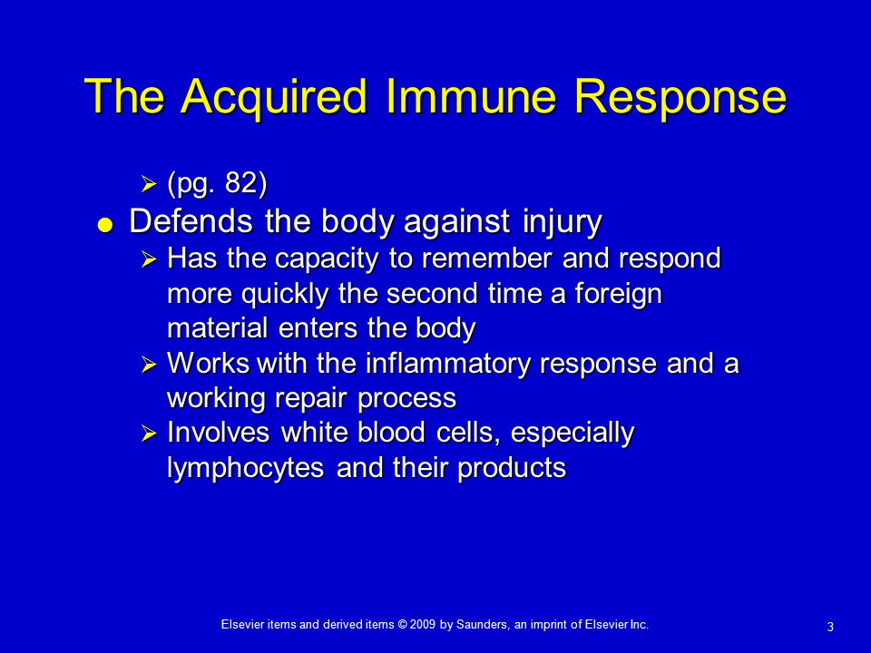 The Acquired Immune Response