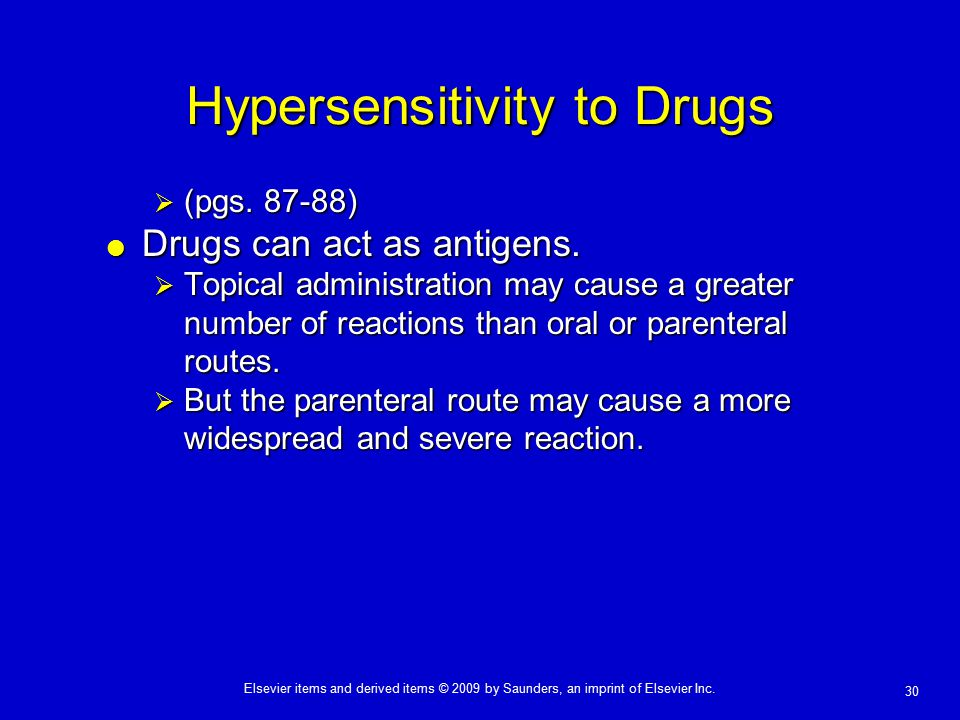 Hypersensitivity to Drugs