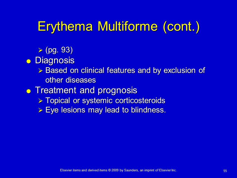 Erythema Multiforme (cont.)