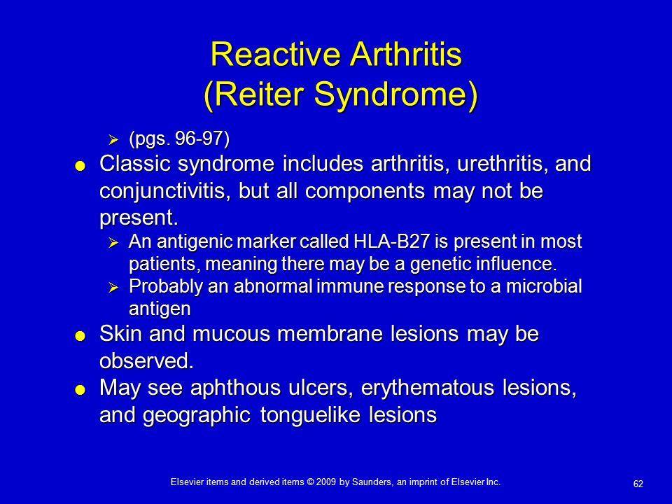 Reactive Arthritis (Reiter Syndrome)