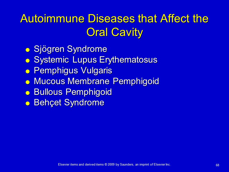 Autoimmune Diseases that Affect the Oral Cavity