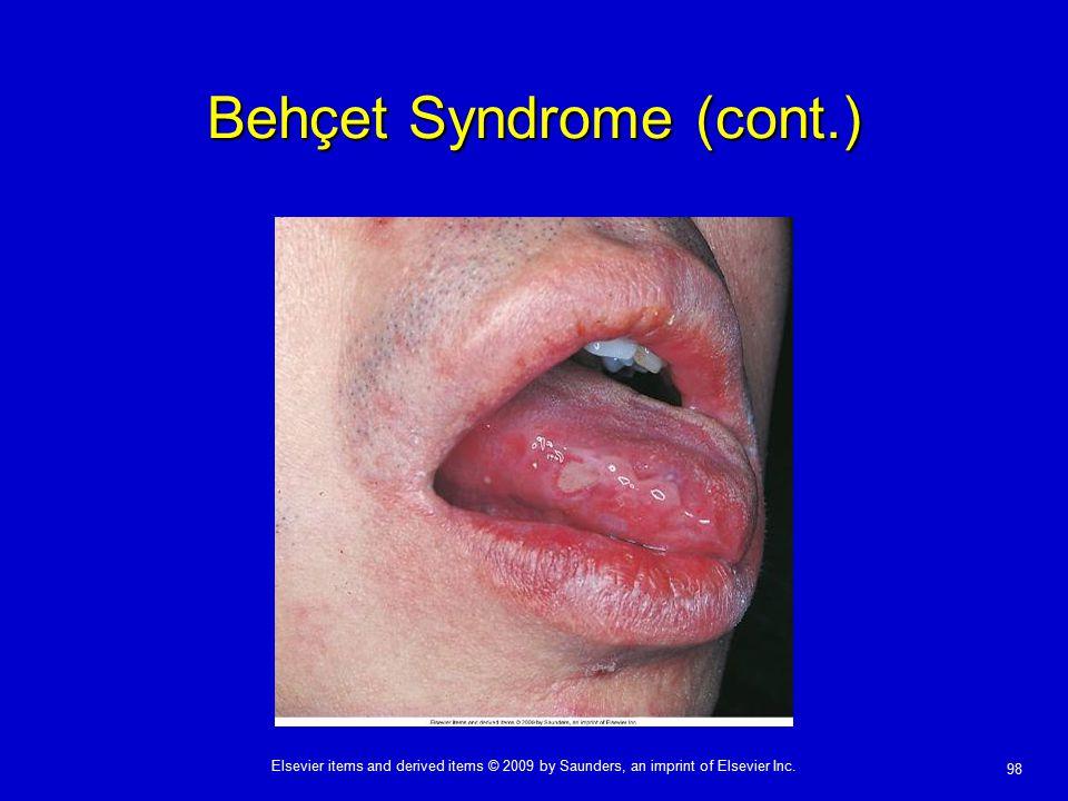 Behçet Syndrome (cont.)