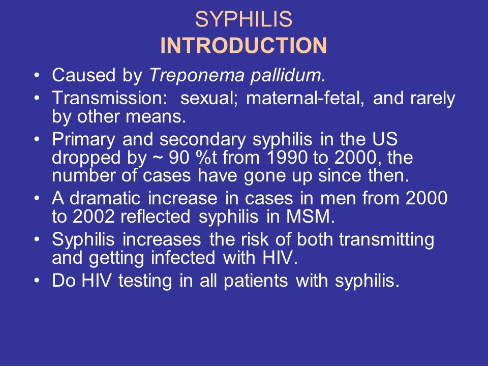 SYPHILIS INTRODUCTION