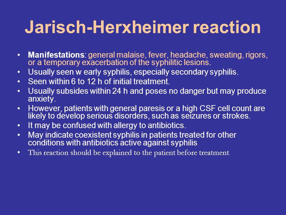 Jarisch-Herxheimer reaction