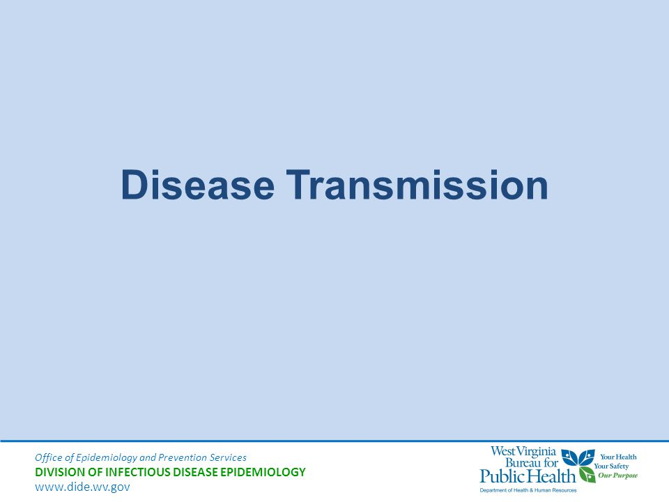 Disease Transmission Good morning.