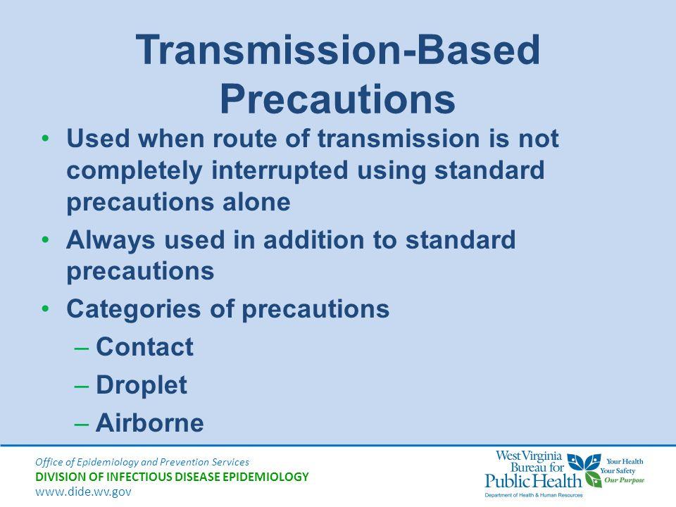 Transmission-Based Precautions