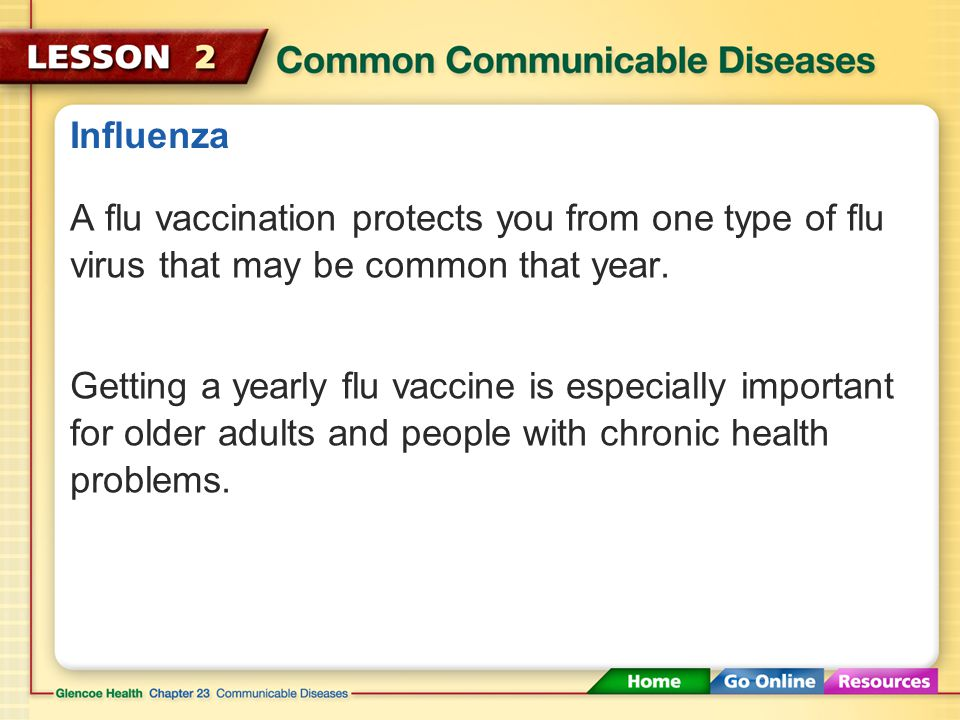 Influenza A flu vaccination protects you from one type of flu virus that may be common that year.