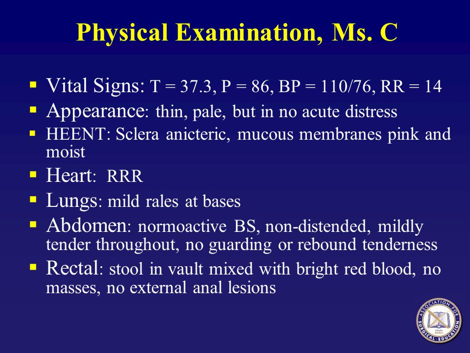 Physical Examination, Ms. C