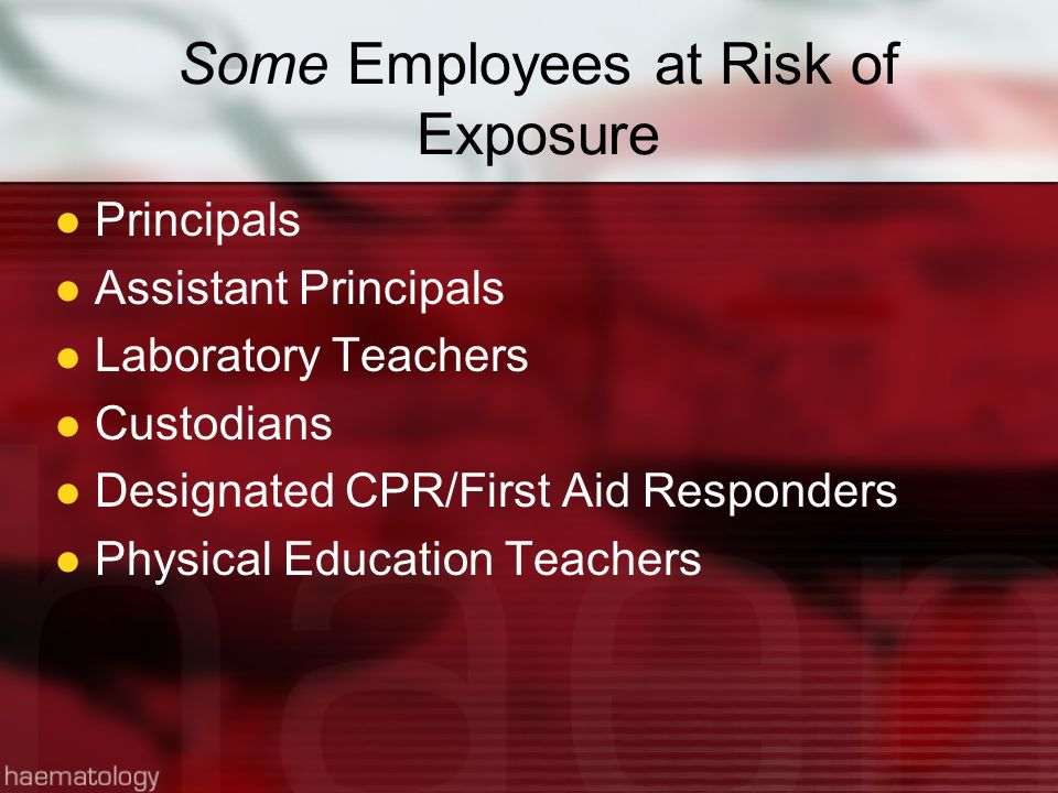 Some Employees at Risk of Exposure