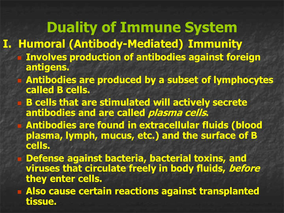 Duality of Immune System