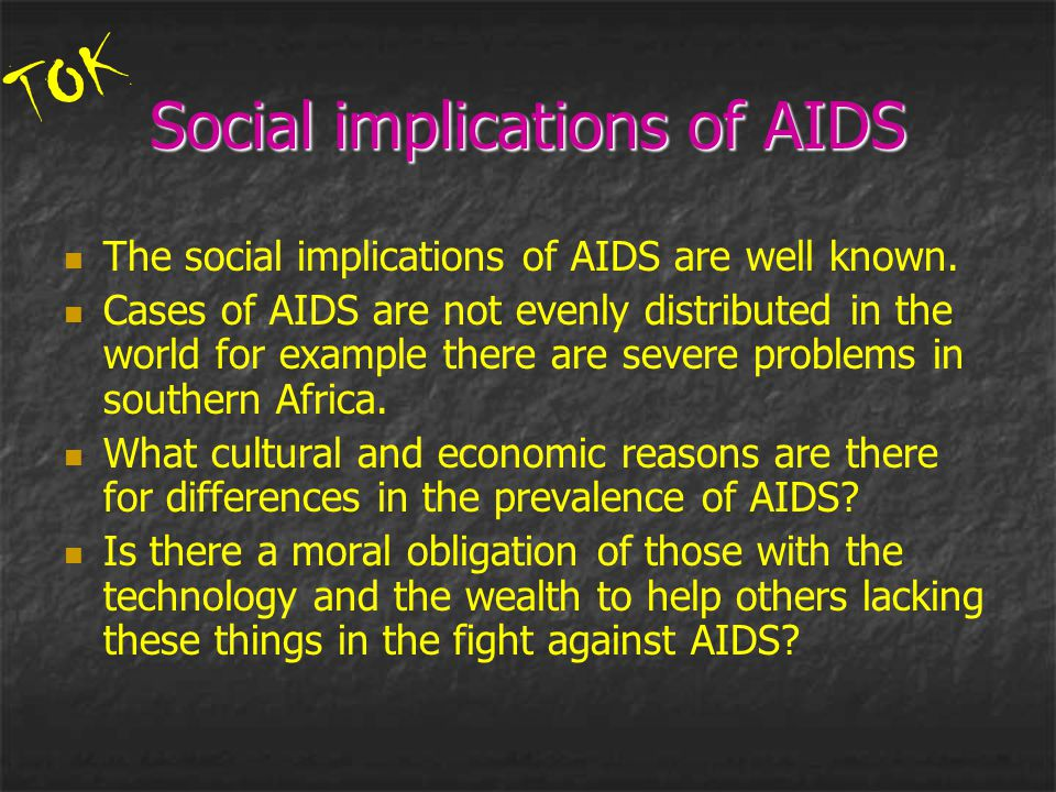 Social implications of AIDS