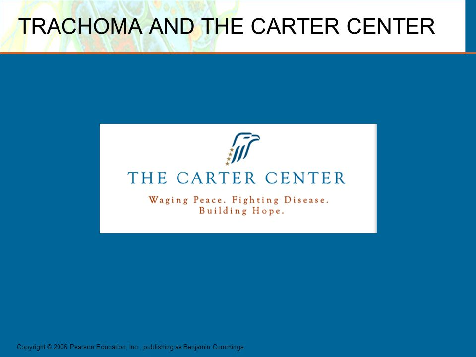TRACHOMA AND THE CARTER CENTER