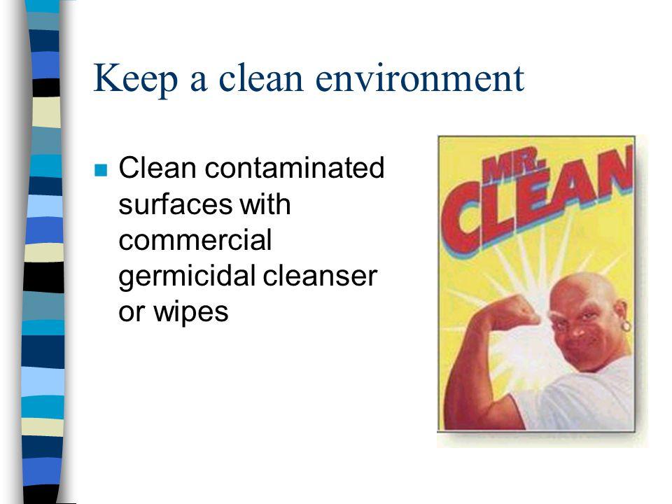 Keep a clean environment