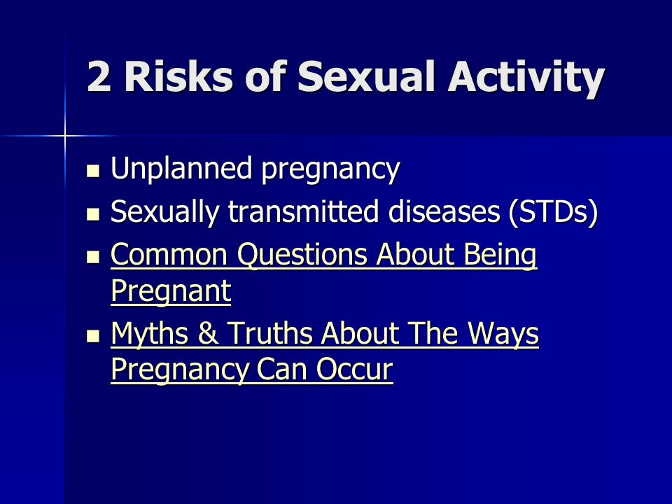 2 Risks of Sexual Activity