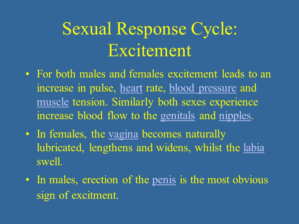 Sexual Response Cycle: Excitement