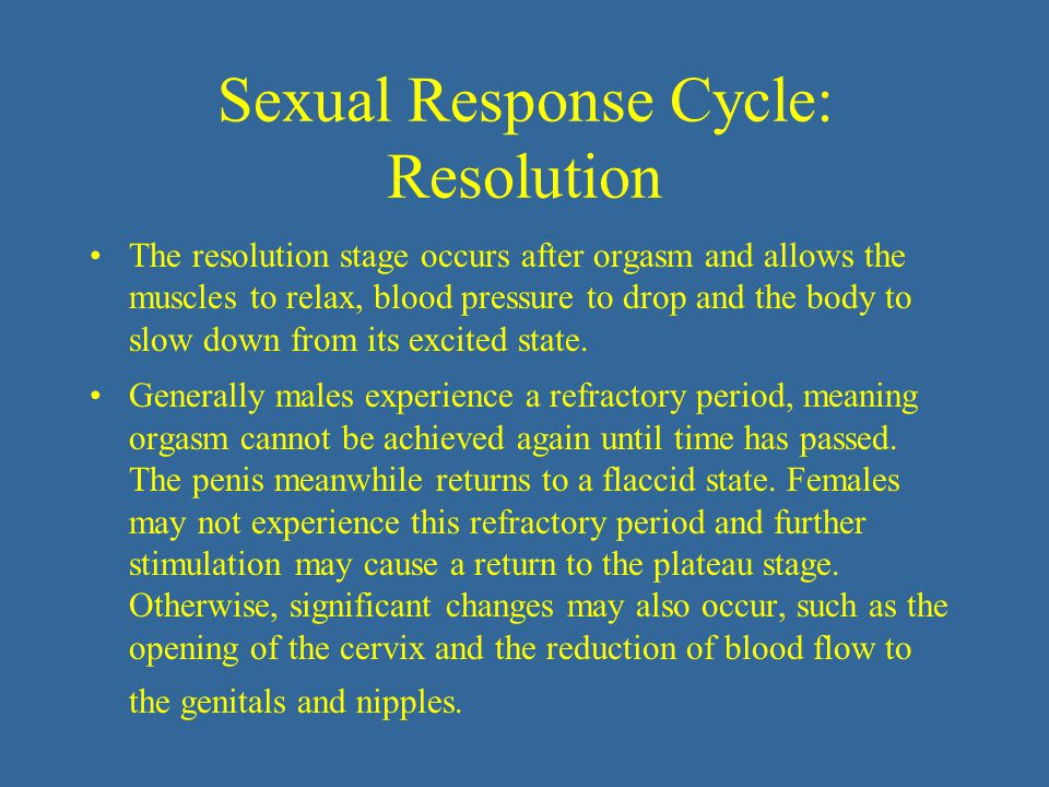 Sexual Response Cycle: Resolution