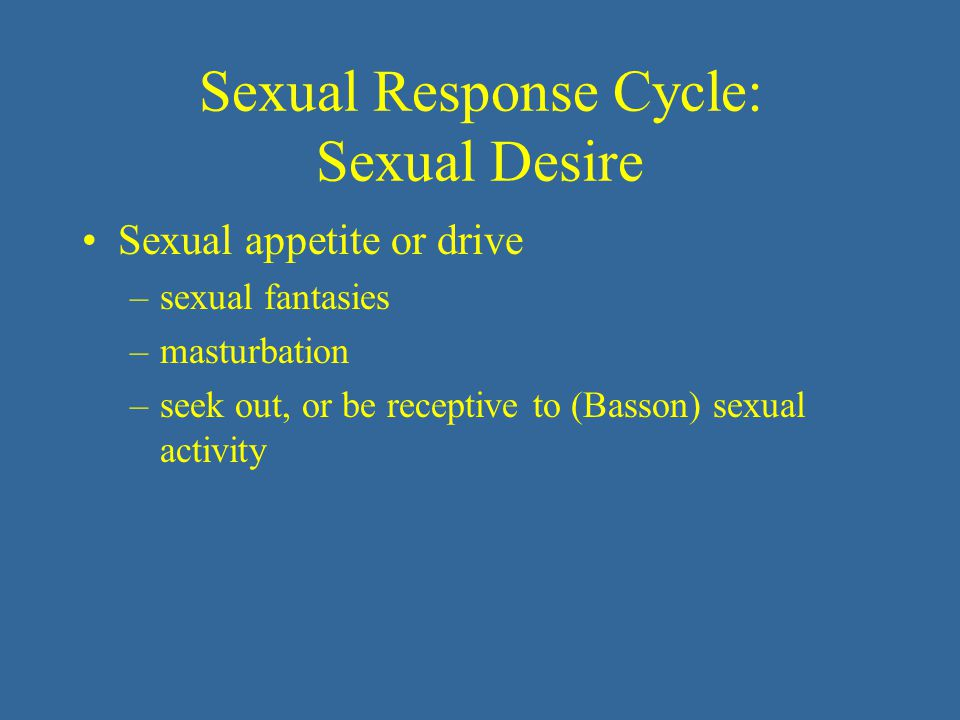 Sexual Response Cycle: Sexual Desire