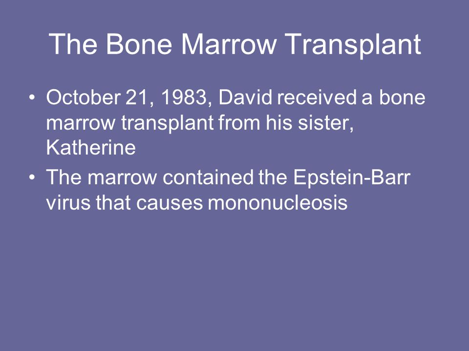 The Bone Marrow Transplant