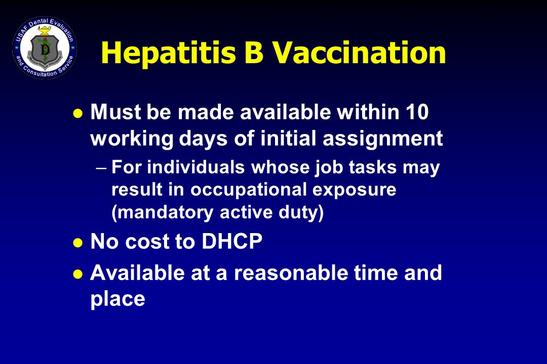 Hepatitis B Vaccination