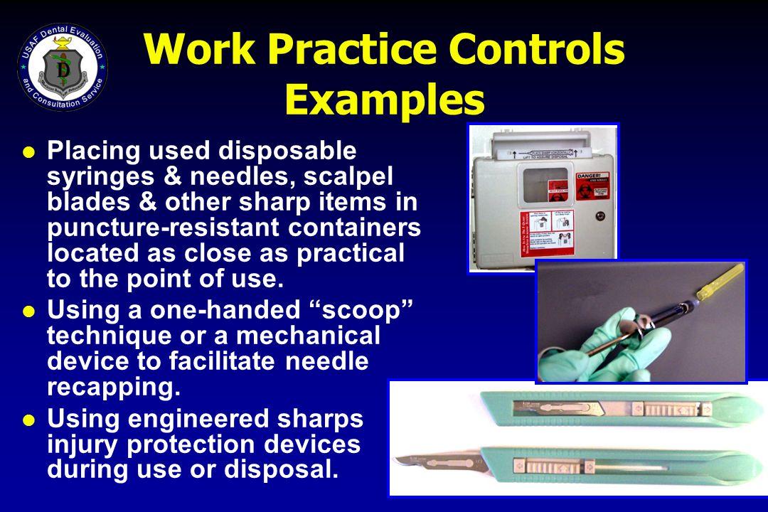 Work Practice Controls Examples