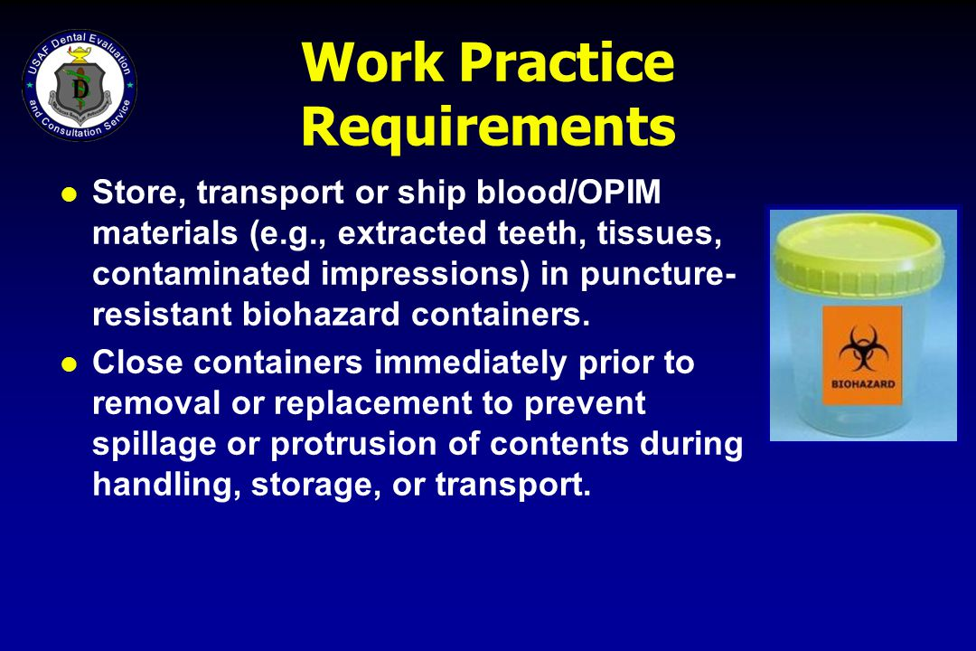Work Practice Requirements