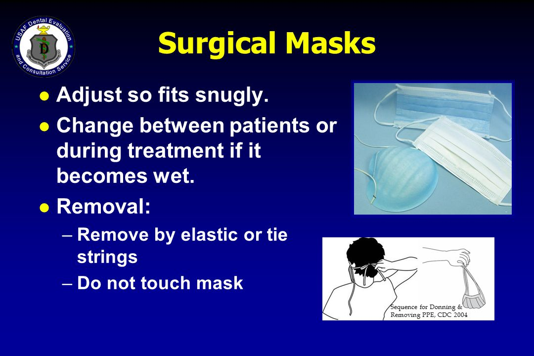 Surgical Masks Adjust so fits snugly.