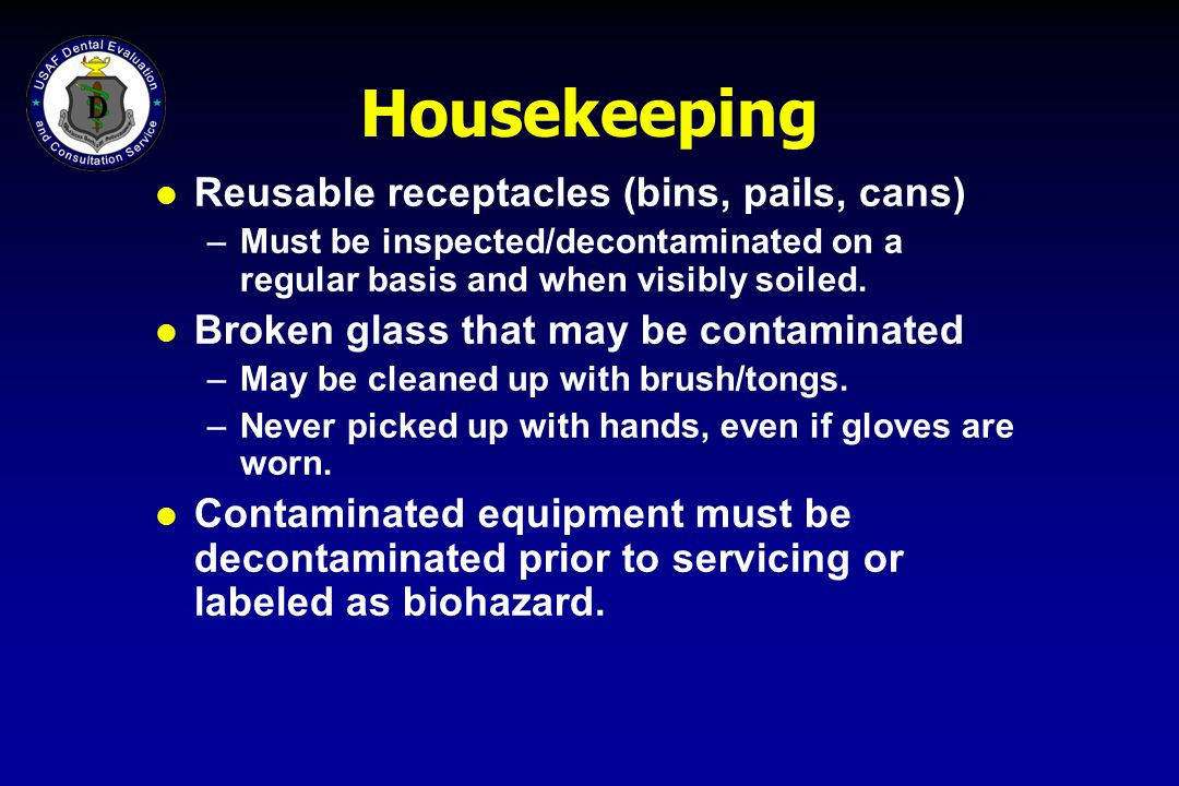 Housekeeping Reusable receptacles (bins, pails, cans)